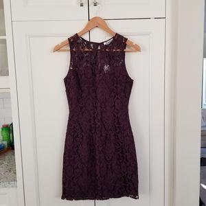 BB DAKOTA Lace Sweetheart Mini Sheath Dress